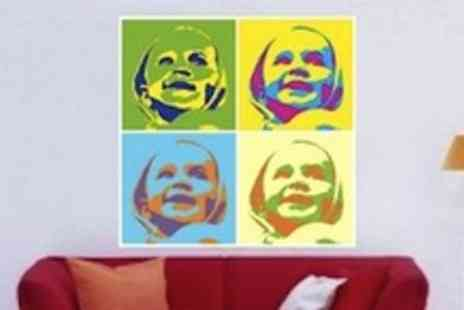 Photo Popart - Photo to pop art print  your very own personalised Warhol - Save 57%