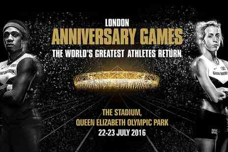 British Athletics - London Anniversary Games at Queen Elizabeth Olympic Park Adult or Concession Tickets on 22  to 23 July - Save 25%