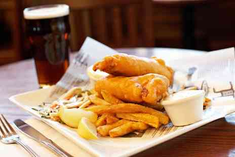 The White Hart - Fish and Chips with Wine or Beer for One, Two or Four - Save 0%