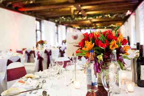 Tudor Barn - Wedding Package with Three Course Meal for 60 Guests - Save 50%
