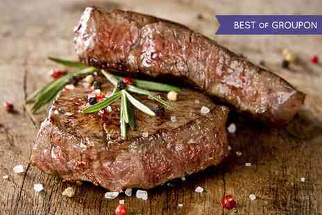 The Yacht London - 10oz Rib Eye Steak Lunch With a Glass of Wine Each for Four - Save 0%