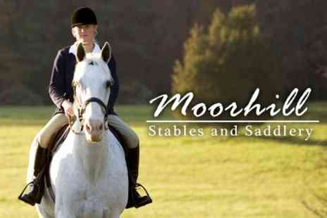 Moorhill Stables - Ten Hours of Horse Riding Lessons - Save 60%