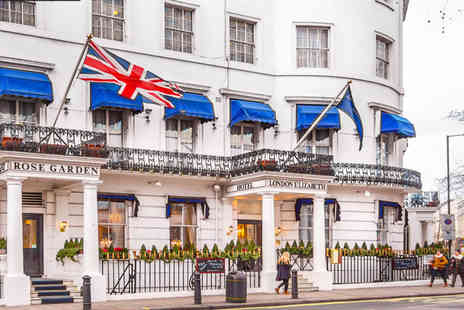 London Elizabeth Hotel - One or Two Night Hyde Park stay for two including breakfast, a two course dinner and a glass of Prosecco - Save 41%