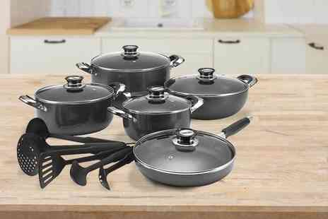 CK Collection - A 16 piece cookware set including pans and kitchen utensils - Save 78%
