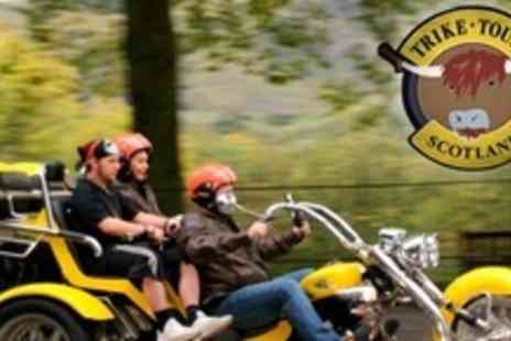 Trike Tours Scotland - Trike Tour of Edinburgh or Glasgow For Two With Photo Shoot, Whisky and Shortbread - Save 57%