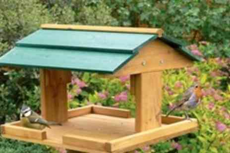 ebeez.co.uk - Traditional Wooden Bird Table - Save 57%