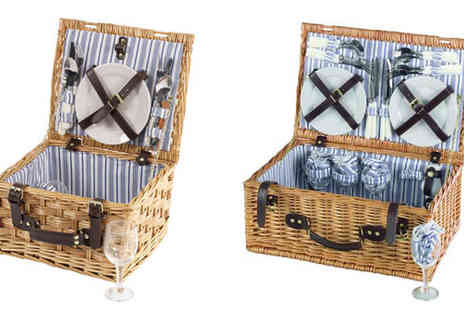 Gadgets & Products - Traditional wicker picnic hamper with crockery, cutlery and glassware from £23 - Save 51%