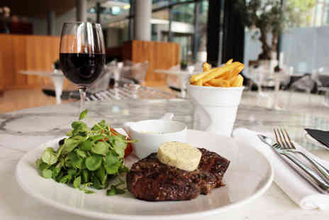 Hilton Manchester Deansgate - Succulent steak meal for two people with a glass of wine each - Save 0%