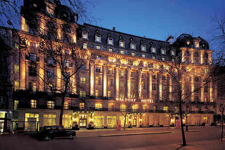 The Waldorf Hilton - Three course meal for two including a glass of Champagne each - Save 44%