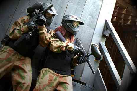 Horizon Paintball - Paintballing day for up to five including 100 balls and a light lunch each  - Save 91%