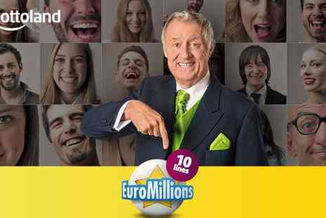 Lottoland - 10 EuroMillions line bets - Save 50%