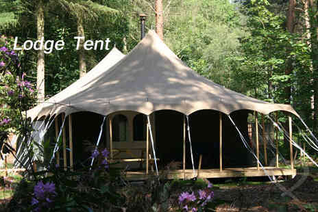 Jollydays Glamping - Two night Glamping break for two in a woodcutter hut  - Save 21%