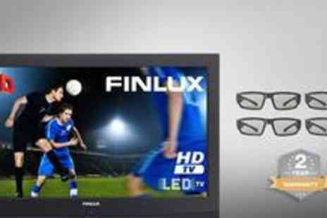 "Finlux Direct - Finlu 32"" LED HD 3D TV plus a two year warranty and four pairs of 3D Glasses - Save 49%"