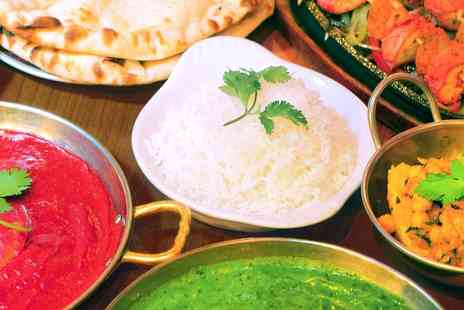 Mumbai Square - Two Course Indian Meal with Wine for Two or Four - Save 56%
