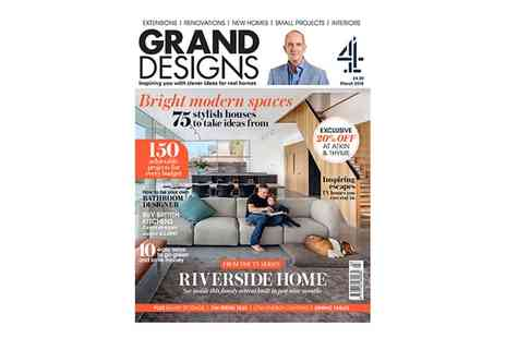 Media 10 - 13 Issues of Grand Designs Magazine With Free Delivery - Save 33%