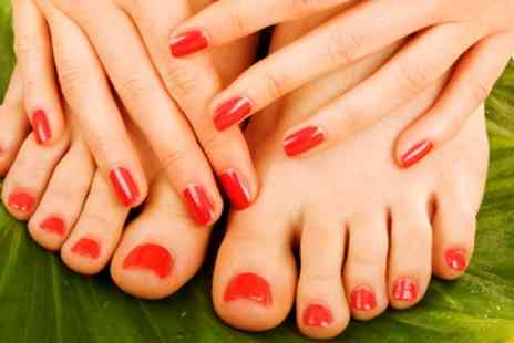 Nail Divas - Shellac Manicure or Pedicure or Both - Save 45%
