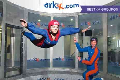 Airkix - Indoor Skydiving Experience with Photo and Optional DVD - Save 58%