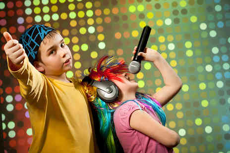 Pop Music Experience - One hour kids party recording experience for up to 20 children - Save 94%