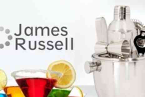 James Russell - Two Seven Piece Bar Tool Sets Including Ice Bucket and Cocktail Shaker - Save 62%