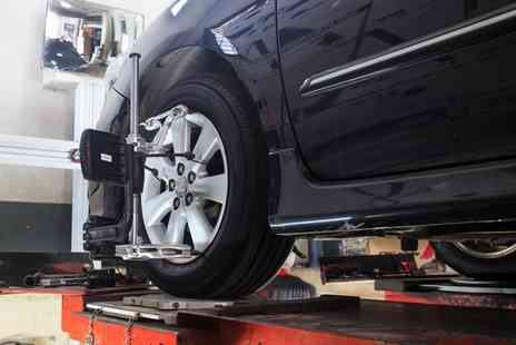 Bubble & Kick Racing - Four Wheel Laser Alignment Including Adjustments - Save 61%