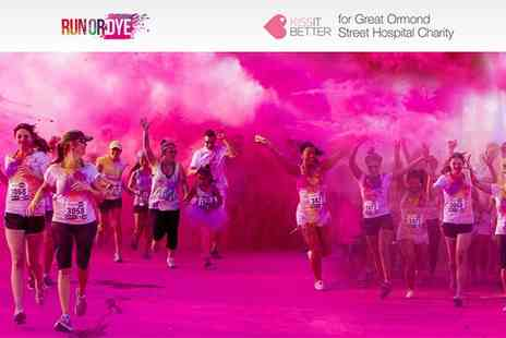 Run or Dye - Early Bird Entry to Run or Dye 5K for the Kiss it Better Appeal for Great Ormond Street Hospital on 3 July - Save 31%