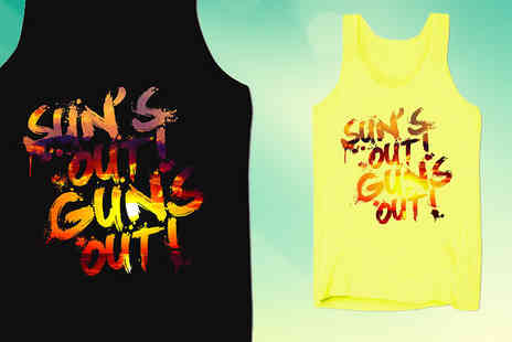 BangTidyclothing - Suns Out Guns Out Mens Summer Top in 4 Colours - Save 0%