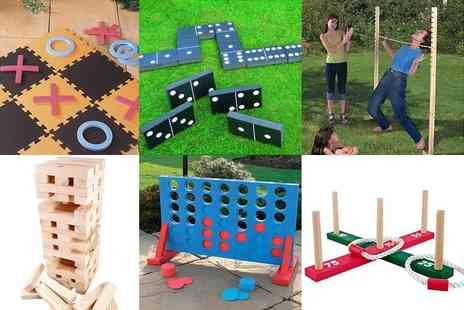 Hungry Bazaar - Choice of six garden games choose quoits, dominoes, jenga and more - Save 80%