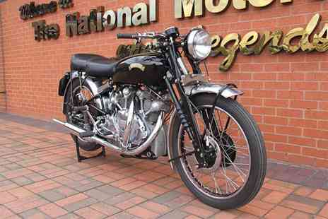 National Motorcycle Museum - Two adult tickets or family ticket to the National Motorcycle Museum - Save 50%