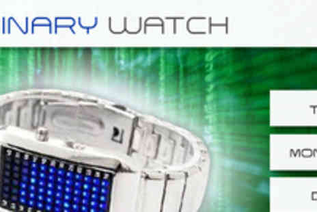Smartass- Stylish Binary Watch in Black or Silver for only £22 (usually £69.99 - Save 69%