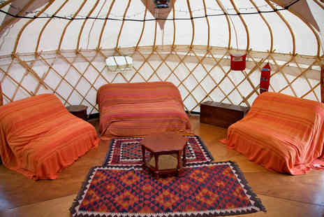 Inside Out Camping - Four night glamping break in a yurt for up to four - Save 64%