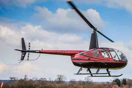 Flying Pig Helicopters - Romantic Helicopter Flight with Bubbly and Chocolates for Two - Save 0%