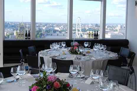 Altitude 360 - Afternoon Tea For Two with A Bottle or Free Flowing Champagne With Panoramic Views Of London - Save 68%
