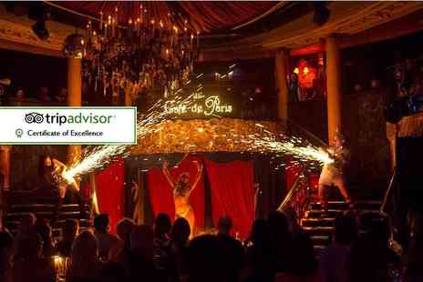 Cafe De Paris - Saturday cabaret experience including two course meal, cocktail and club entry - Save 35%