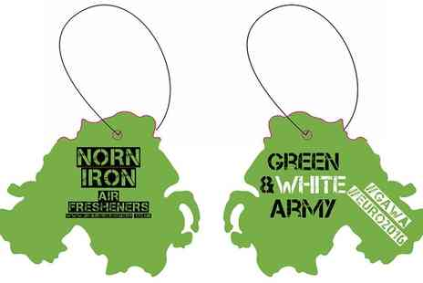Norn Iron Airfreshners - Five Northern Ireland Shaped Car Air Fresheners - Save 0%