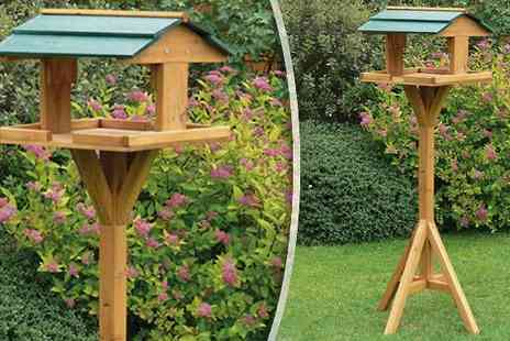 Hungry Bazaar - Free Standing Traditional Bird Table - Save 67%
