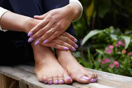 Riannas Hair & Beauty - Luxury Manicure or Pedicure or Both with Indian Head Massage - Save 0%