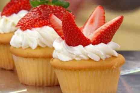 3D Cakes - 12 Strawberry or Gourmet Cupcakes - Save 79%