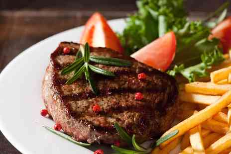 Kobee - 6oz Angus Steak Lunch with Chips, Salad and Steak Sauce for Two - Save 0%