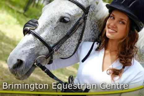 Brimington Equestrian Centre - Half Day Introduction to Horse Riding for £30 - Save 70%