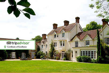 Esseborne Manor - Overnight Hampshire getaway for two including breakfast, seven course dinner and 18 hole golf  - Save 39%
