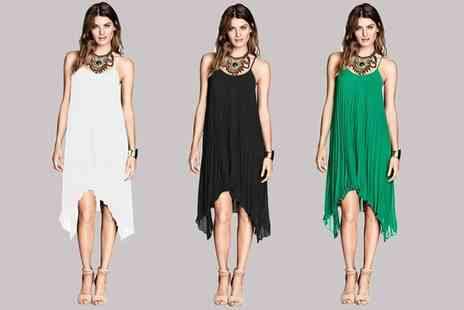 Groupon Goods Global GmbH - Womens Pleated Dress in Choice of Colour - Save 0%