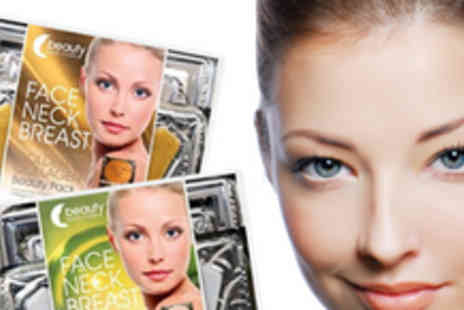 Beauty Face Masks - One gold & 1 crystal collagen face mask, breast mask and neck mask - Save 76%
