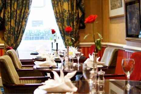 The Leonard Hotel - Three course meal and bottle of wine for two - Save 53%