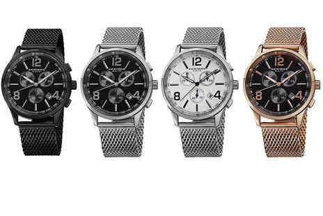 Buy Bay - Mens stainless steel chronograph watch - Save 86%