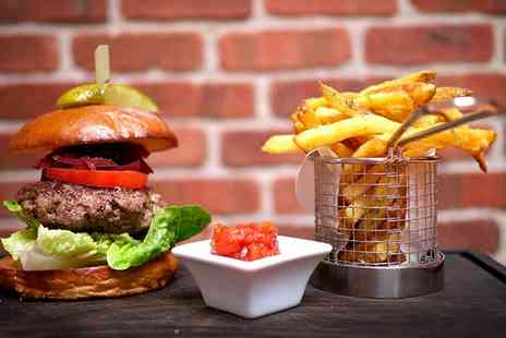 Honky Tonk - EUROs Beer and Burger Special with Fries for Two - Save 0%