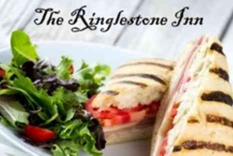 The Ringlestone Inn - Two Course Lunch of British Fare For Four - Save 60%