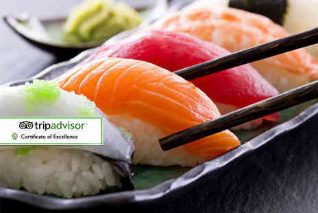 Sakushi - Eight plates of sushi for two people to share - Save 58%