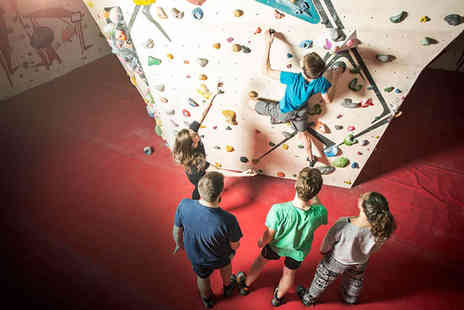 The Climbing Hangar - Introductory climbing lesson, day pass and shoe hire for one or two - Save 50%