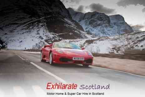 Exhilarate Scotland - £255 For Supercar Drive Through the Highlands - Save 70%