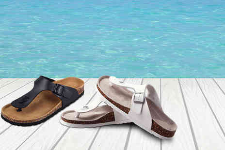 Buy Bay - Pair of ladies faux leather sandals choose from black and white - Save 71%
